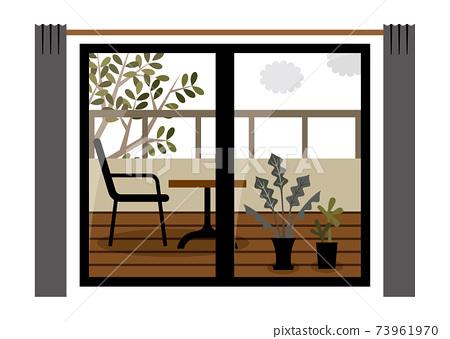 窗戶陽台陽台室內 73961970
