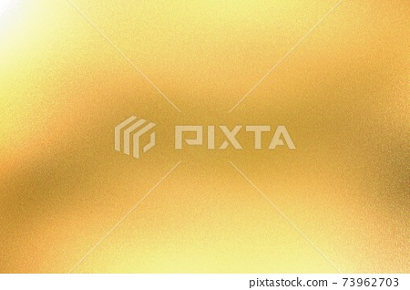 Light shining on yellow foil glitter metallic wall with copy space, abstract texture background 73962703