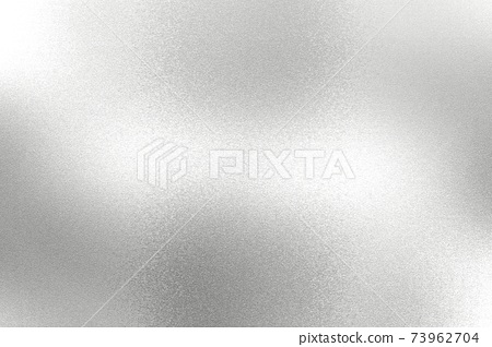 Light shining on white silver foil glitter metallic wall with copy space, abstract texture background 73962704
