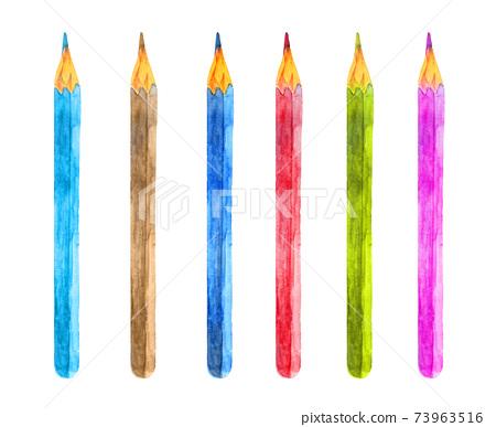 Watercolor colored pencil set 73963516