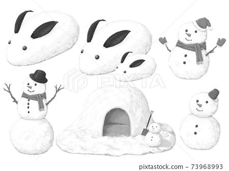 雪相關設置黑色和白色 73968993
