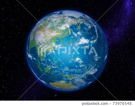 Earth: Starfield galaxy centered on the Japanese archipelago 73970548