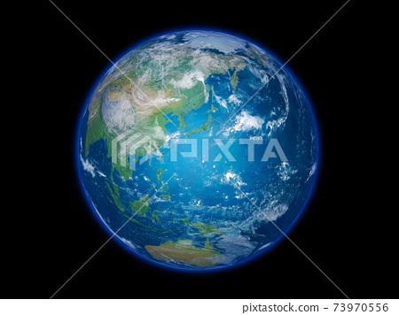 背景為黑色,以日本群島為中心 73970556