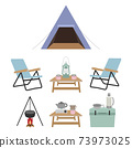 露營裝備插圖集 73973025