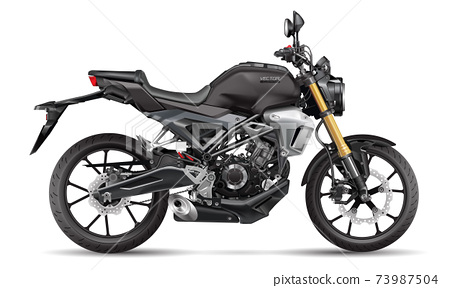 Realistic motorcycle big bike design on white background transportation vector illustration. 73987504