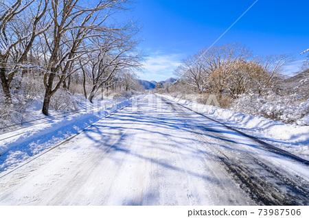 榛名湖에 이은 직선 도로 73987506