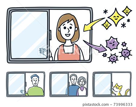 Ventilation infectious disease virus countermeasures prevention health cleanliness set 73996333