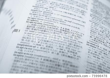 "English-Japanese dictionary ""inspiration"" pale blue 73996478"