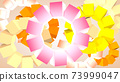 Abstract graphic background from rotating cubes, 3D rendering 73999047