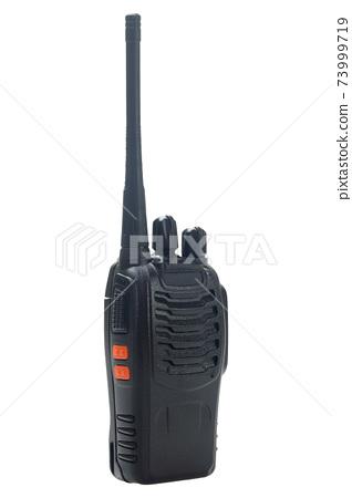 black portable radio transceiver isolated on white 73999719