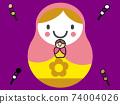 CG 달마 병아리 색 경단 74004026