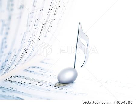 音樂和筆記符號 74004580