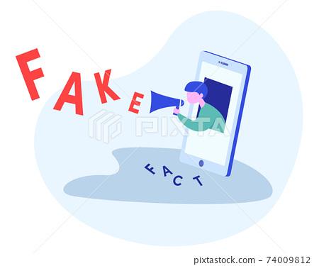 年輕人傳播來自智能手機的假新聞 74009812