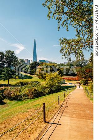 Olympic park trail in Seoul, Korea 74011673