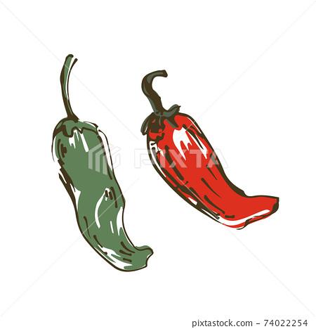 虎林蔬菜手繪素描圖 74022254