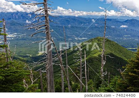 從八嶽山脈和新光寺山脊眺望牛k山和清裡 74024400