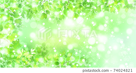 新的綠色留下風景背景 74024821