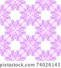 Ikat repeating swimwear design. Purple perfect 74026143