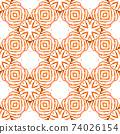 Exotic seamless pattern. Orange alive boho chic 74026154