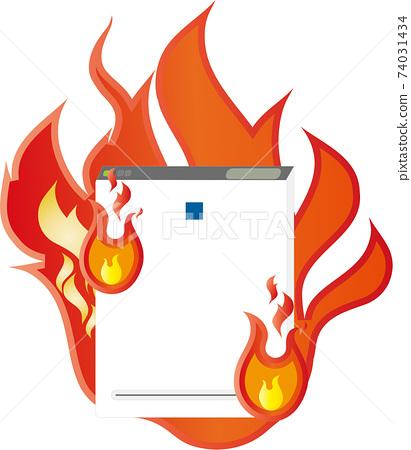 家電圖片空氣淨化器起火事故 74031434