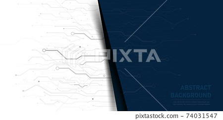 Abstract background electronic print circuit dot and line 008 74031547