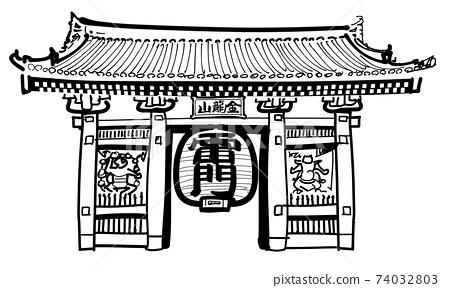 淺草寺Kaminarimon門-單 74032803