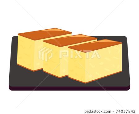 卡斯特拉矢量圖日本糖果 74037842