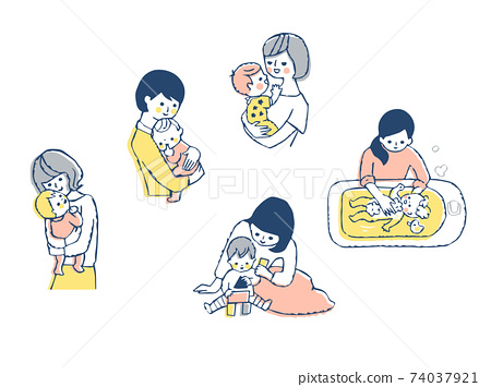 媽媽和寶寶套 74037921