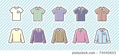 10個圖標集(衣服/襯衫) 74040603