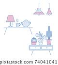 室內雜貨插圖集 74041041
