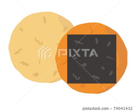 糯米餅日本甜點的矢量圖 74041432