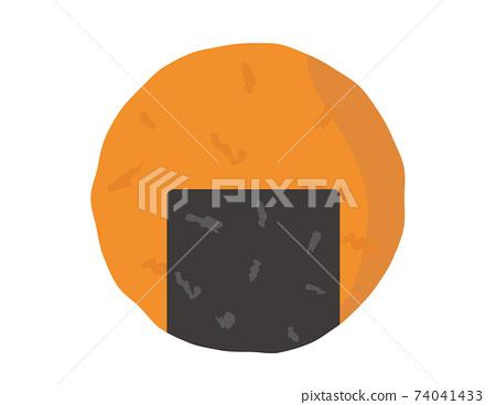 糯米餅日本甜點的矢量圖 74041433