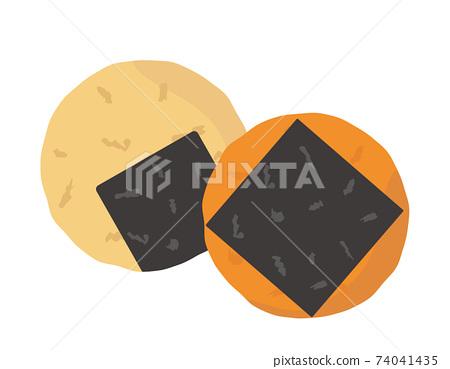 糯米餅日本甜點的矢量圖 74041435