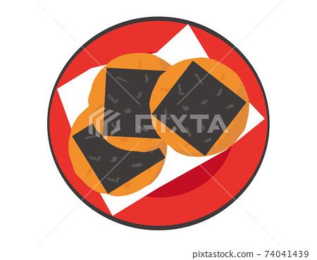 糯米餅日本甜點的矢量圖 74041439