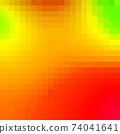 Colorful Bright Geometric Background. Green flashes on orange background 74041641