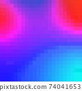 Colorful Bright Geometric Background. Pixel art Grid Mosaic 74041653