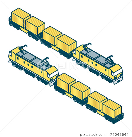 화물 열차의 일러스트 74042644