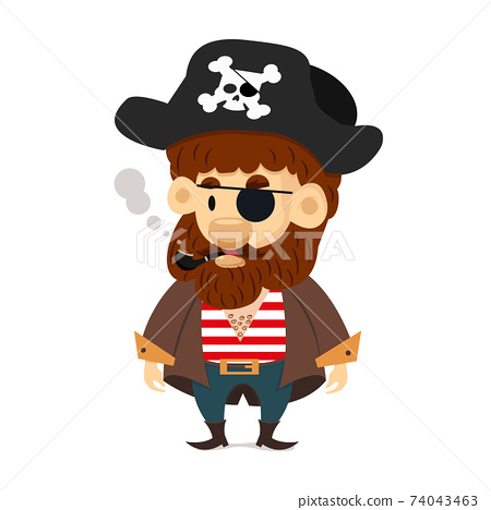 Cute pirate character cartoon vector 74043463