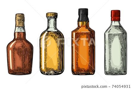 Set bottle for gin, rum, whiskey, tequila. 74054931
