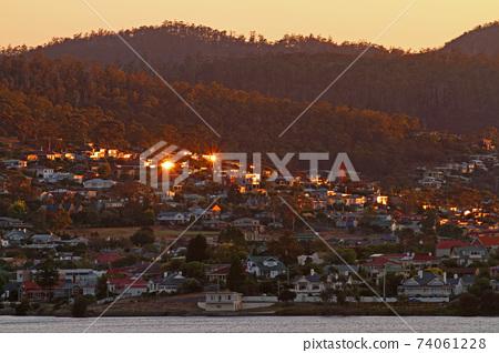 在塔斯馬尼亞州的霍巴特港口景觀 74061228