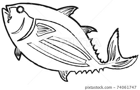 魚線條藝術 74061747