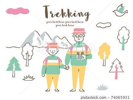 父母和孩子們喜歡徒步旅行 74065931