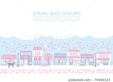 活潑的春天櫻花 74066324
