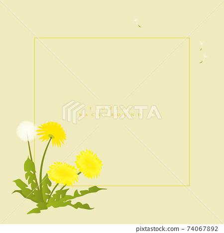 春天盛開的花相框07 74067892