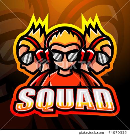 3 squad boys esport logo design 74070336