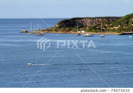 Port scenery of Noumea port in New Caledonia 74073010