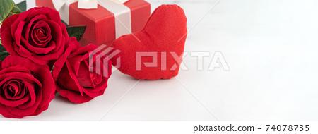 情人節 花束 玫瑰花 禮物 卡片 Valentine's Day gift バレンタイン 74078735