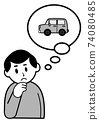 一個男人在想一輛車 74080485