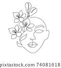 Minimal woman face 74081618