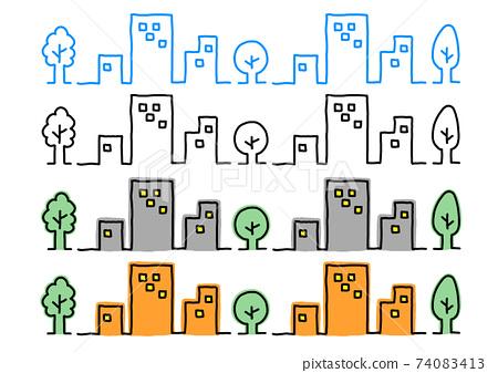 插圖素材集:建築景觀建築面積建築 74083413